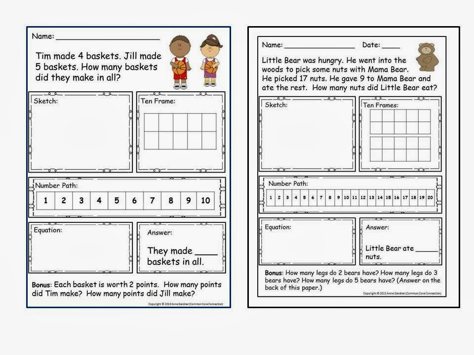 Subtraction Worksheets common core subtraction worksheets : Number Paths ~ A Fabulous Tool for Kindergarten and First Grade ...